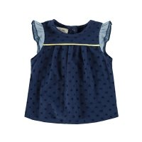 Blouse manches volantes - Marine