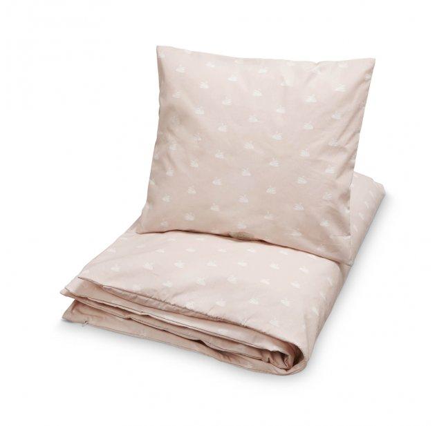 parure de lit cygnes rose poudr cam cam pour chambre enfant les enfants du design - Parure De Lit Rose Poudre