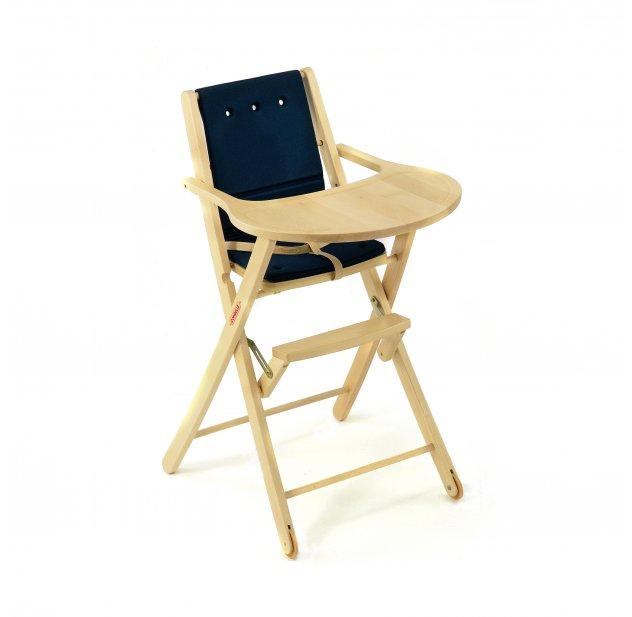 chaise haute pliante elisa bleu