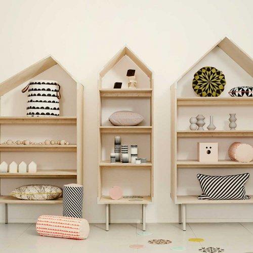 panier de rangement demi lune ferm living pour chambre. Black Bedroom Furniture Sets. Home Design Ideas