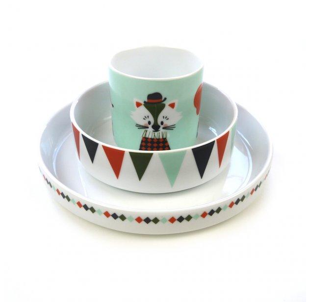 Set de vaisselle Circus en porcelaine Ferm Living pour chambre ...
