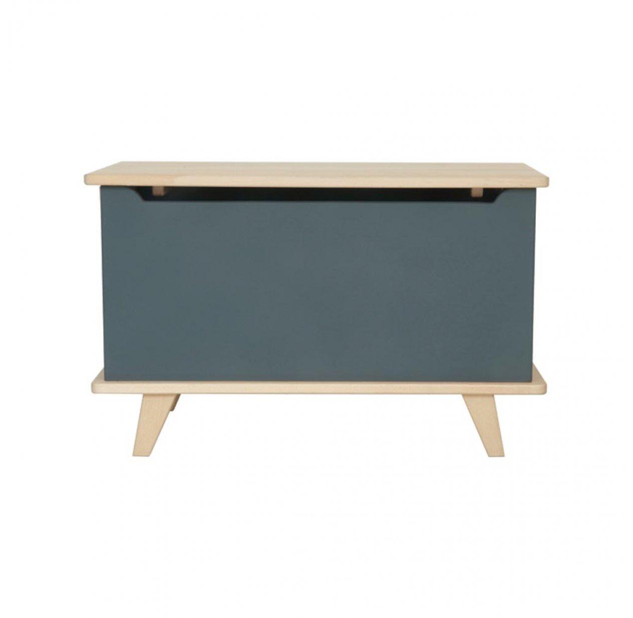 le coffre jouets gris souris laurette pour chambre enfant les enfants du design. Black Bedroom Furniture Sets. Home Design Ideas