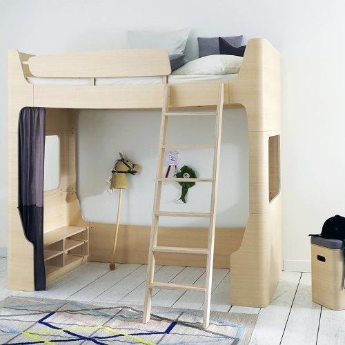 lit mezzanine mild wild naturel mildwild pour chambre enfant les enfants du design. Black Bedroom Furniture Sets. Home Design Ideas
