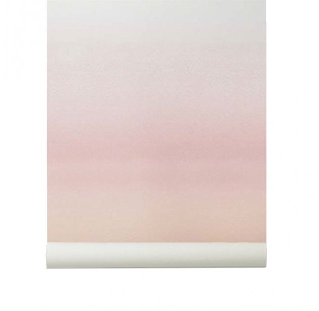 Papier peint Skymning - Rose