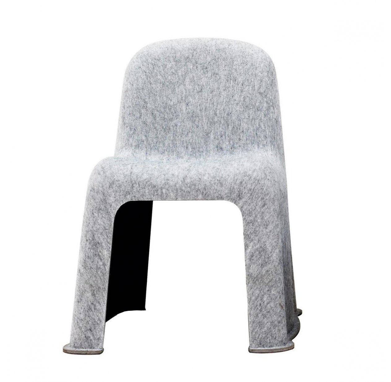 Chaise enfant Little Nobody - Gris clair