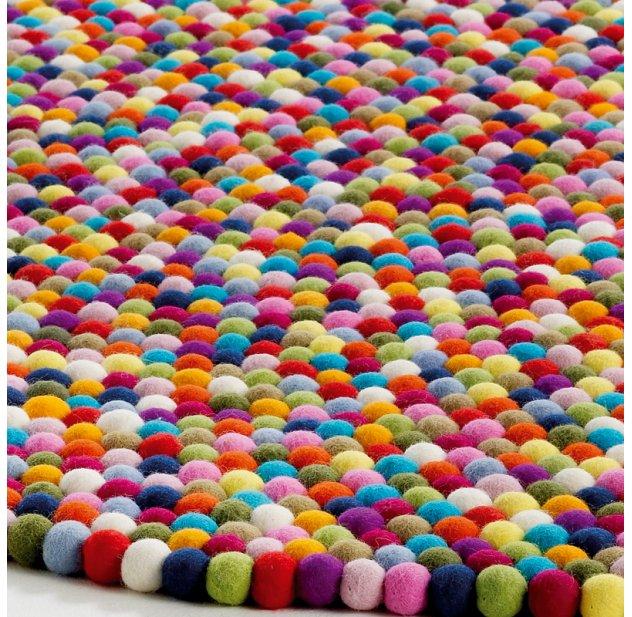 tapis enfant multicolore pinocchio les enfants du design - Tapis Multicolore