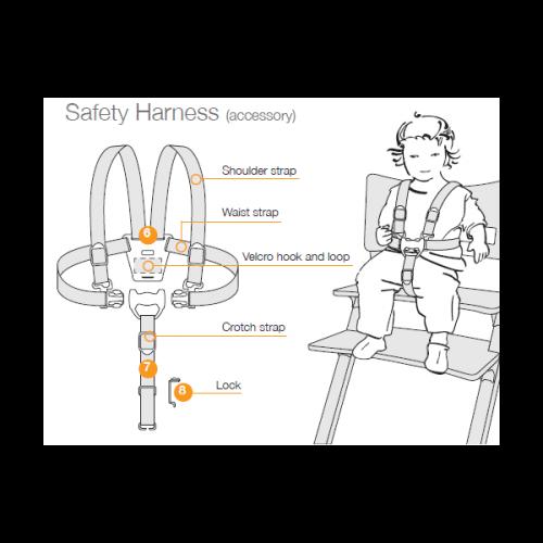 Harnais de s curit pour chaise haute leander leander pour chambre enfant les enfants du design - Harnais de securite chaise haute ...