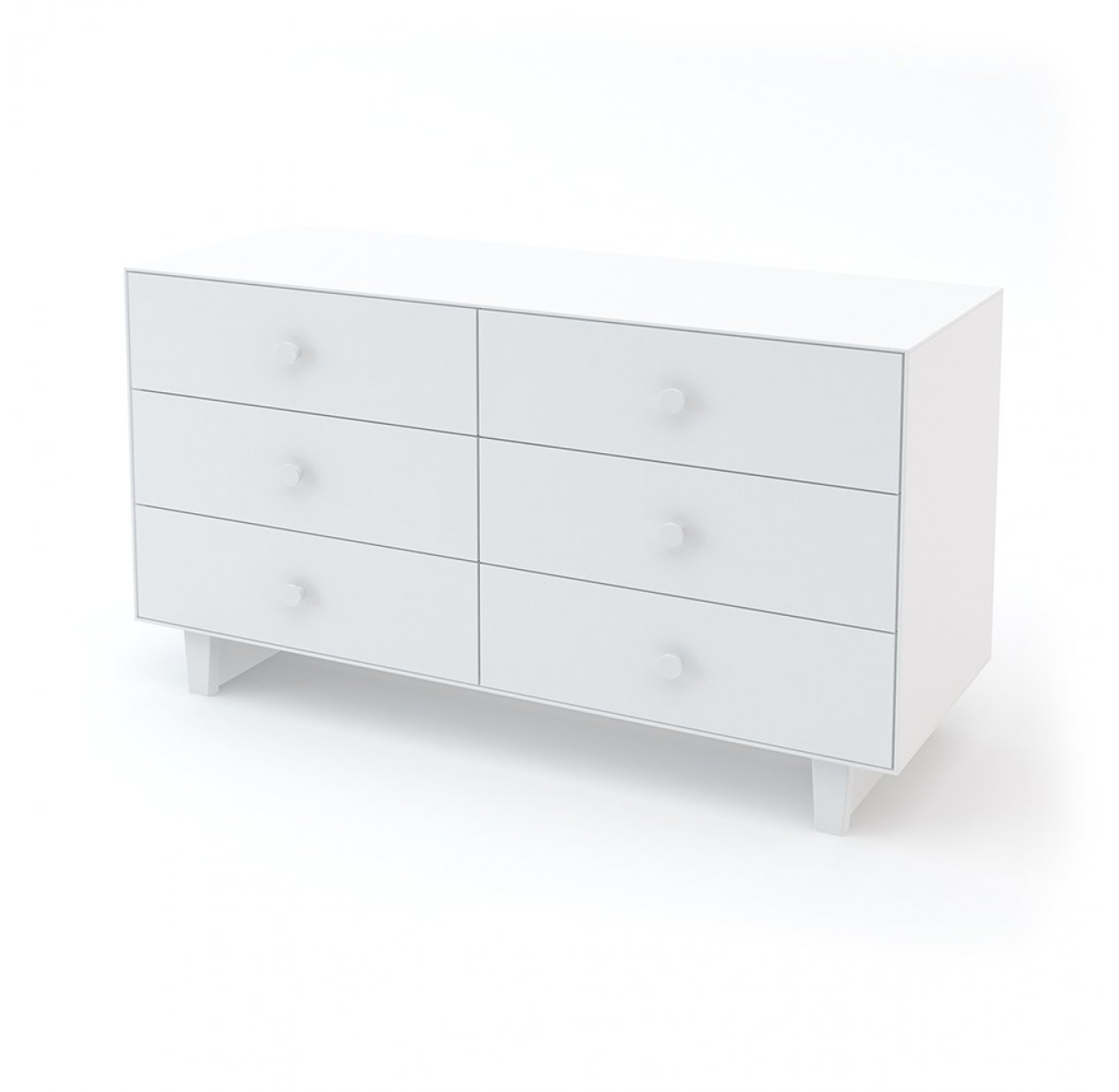 Commode Merlin Rhea 6 tiroirs - Blanc