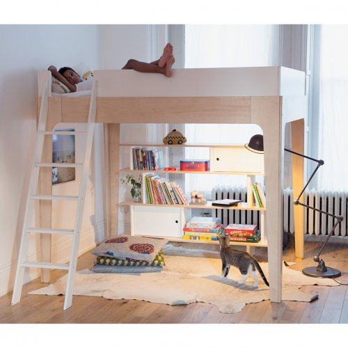 lit mezzanine perch bouleau oeuf nyc pour chambre enfant les enfants du design. Black Bedroom Furniture Sets. Home Design Ideas
