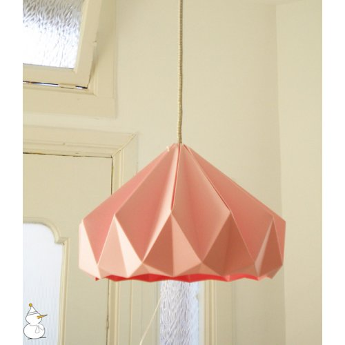 Suspension Origami Chestnut Rose