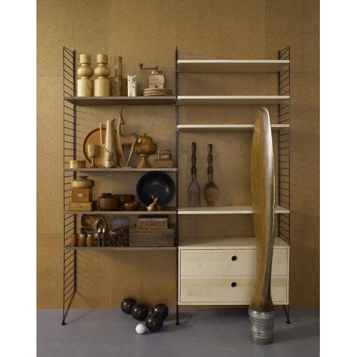 caisson 2 tiroirs 78 x 30 cm noyer string pour chambre enfant les enfants du design. Black Bedroom Furniture Sets. Home Design Ideas