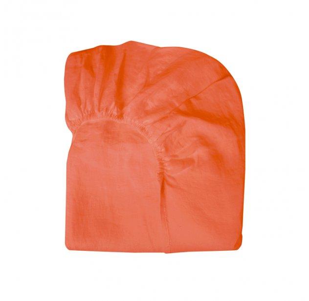 drap housse lin 90x140 lit bonnesoeurs corail. Black Bedroom Furniture Sets. Home Design Ideas