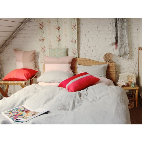 taie d 39 oreiller lin rose lab pour chambre enfant les enfants du design. Black Bedroom Furniture Sets. Home Design Ideas