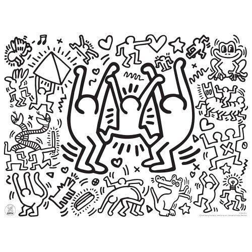 Keith Haring Sets De Table à Colorier