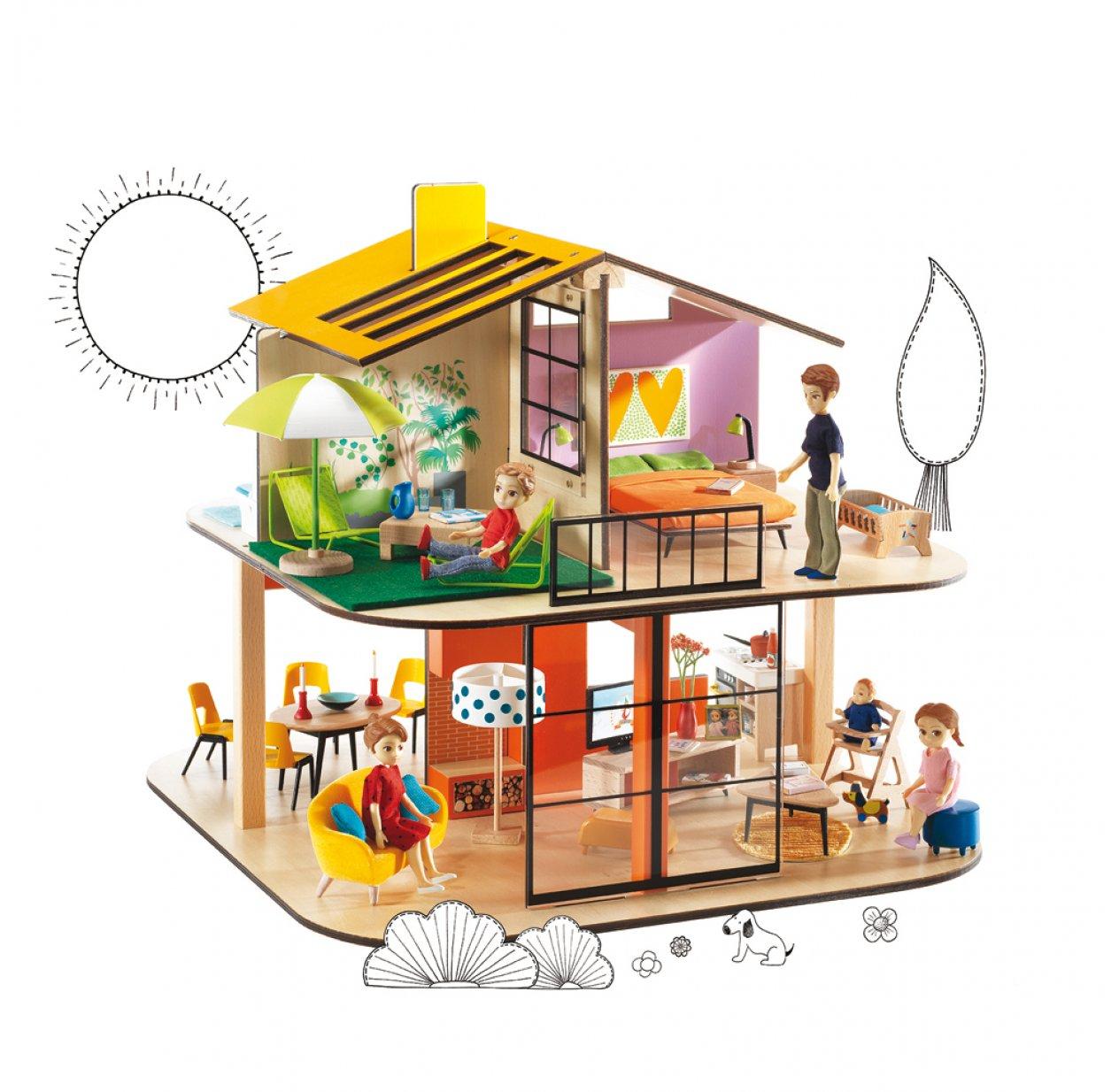 Maison De Poupéé En Bois Ikea: Maison De Poupées Color House Djeco Pour Chambre Enfant