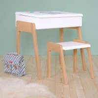 Tabouret My Little Pupitre - Blanc