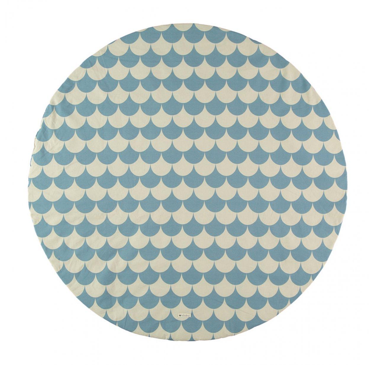 tapis apache pour tipi ecailles bleu nobodinoz pour chambre enfant les enfants du design. Black Bedroom Furniture Sets. Home Design Ideas