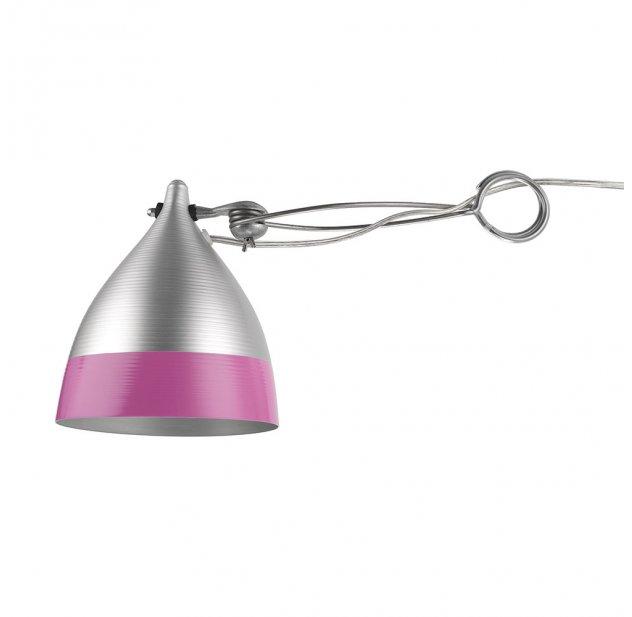 Lampe Cornette A Pincer Rose Et Inox Tse Tse Pour Chambre Enfant