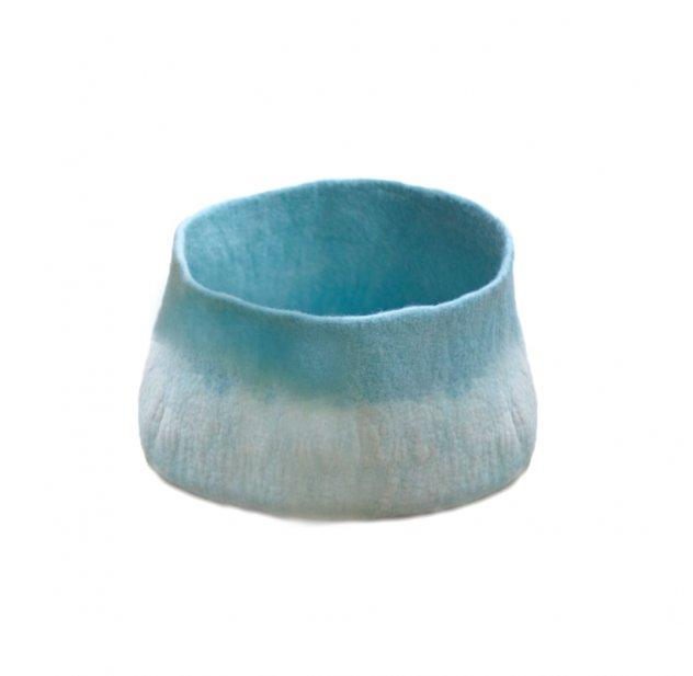 Grande calebasse en feutre - turquoise pastel