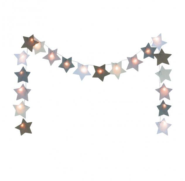 Guirlande lumineuse étoiles - Beige Numéro 74 pour chambre enfant ...