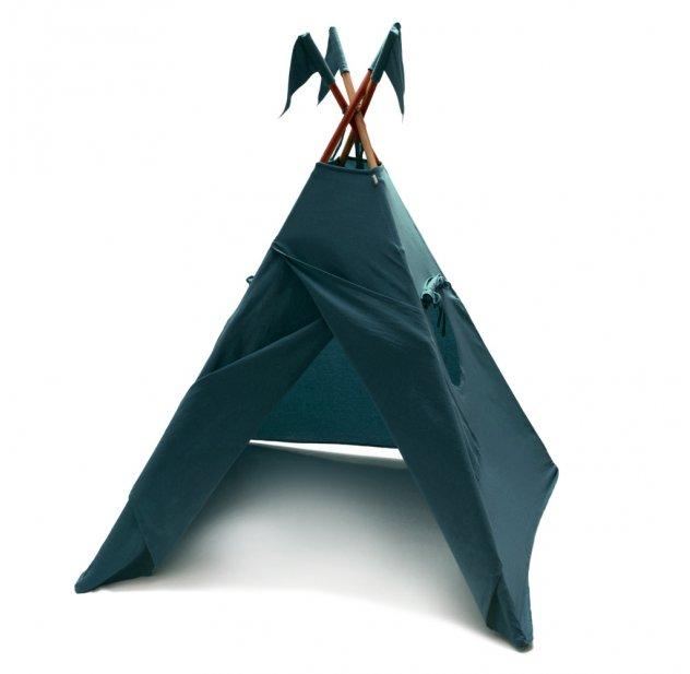 tipi bleu canard num ro 74 pour chambre enfant les. Black Bedroom Furniture Sets. Home Design Ideas