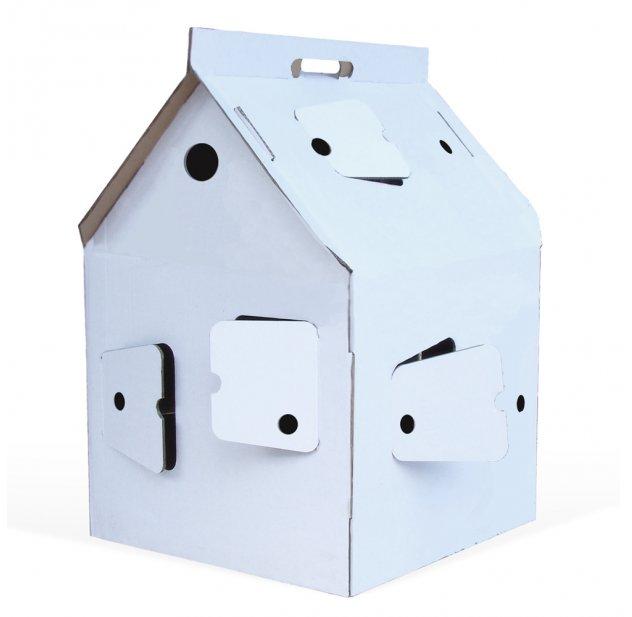 casa cabana maison en carton blanc studio roof pour. Black Bedroom Furniture Sets. Home Design Ideas
