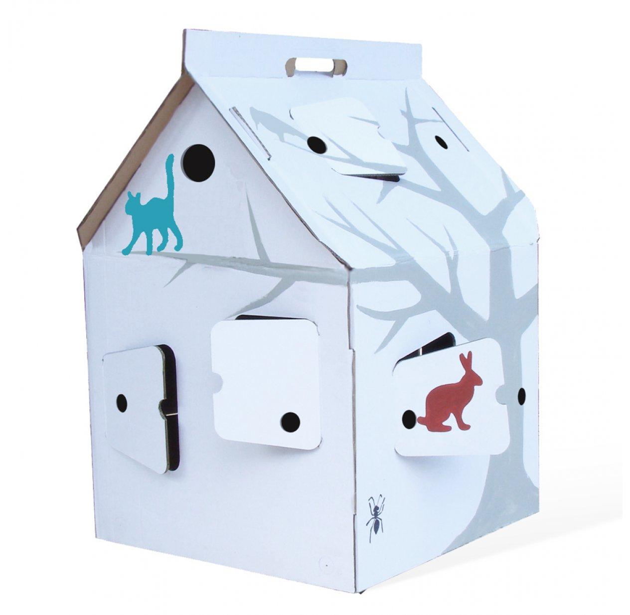 casa cabana maison en carton avec motifs studio roof. Black Bedroom Furniture Sets. Home Design Ideas