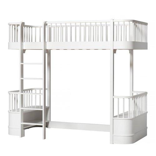 lit mezzanine wood avec chelle face blanc oliver furniture pour chambre enfant les enfants. Black Bedroom Furniture Sets. Home Design Ideas
