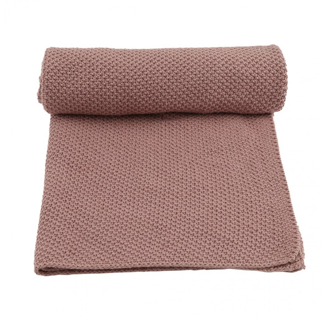 Couverture en tricot New Stitch - Rose fawn