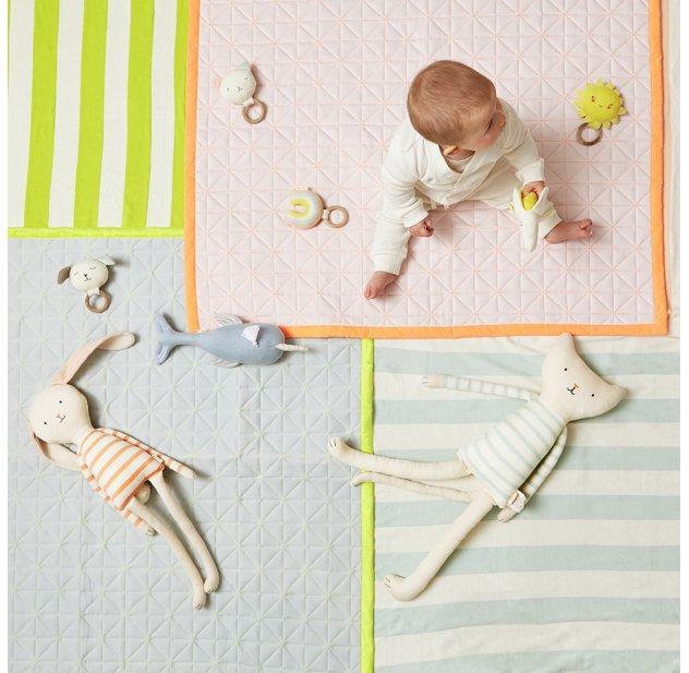 Tapis de jeux bébé - Bleu clair
