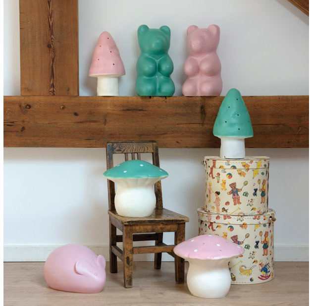 Lampe Vert Veilleuse Ours Jelly Opale BodCxerW