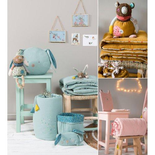 plaid les jolis trop beaux rose poudr moulin roty. Black Bedroom Furniture Sets. Home Design Ideas