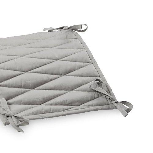 tour de lit matelass arlequin gris cam cam pour chambre enfant les enfants du design. Black Bedroom Furniture Sets. Home Design Ideas