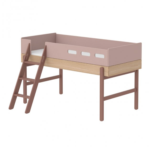 lit mi hauteur chelle incline popsicle chnecherry flexa popsicle pour chambre enfant les enfants du design - Lit Mi Hauteur