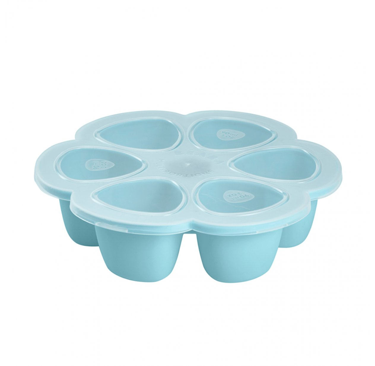 Moule Multiportions silicone 6 x 90 ml - Bleu