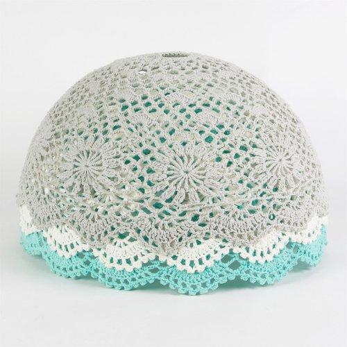 abat jour en crochet turquoise rjb stone pour chambre enfant les enfants du design. Black Bedroom Furniture Sets. Home Design Ideas