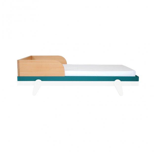 Barrière Pour Lit Bébé 60 X 120 Cm Petipeton Bleu Canard Laurette