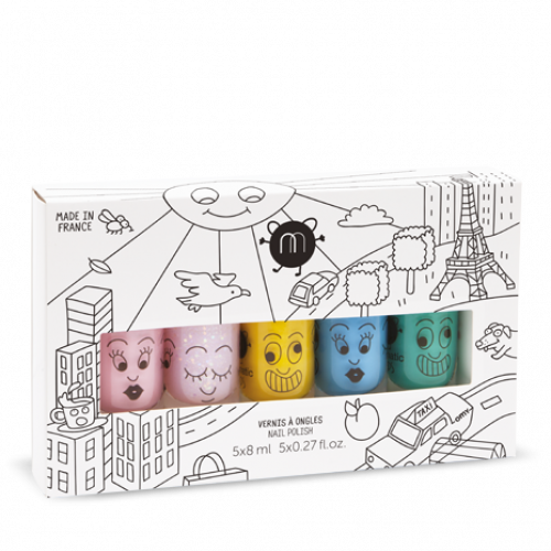 Coffret de 5 vernis City