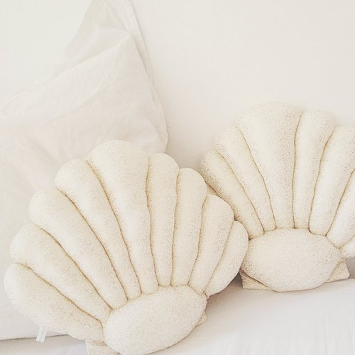 Coussin Coquillage - Beige