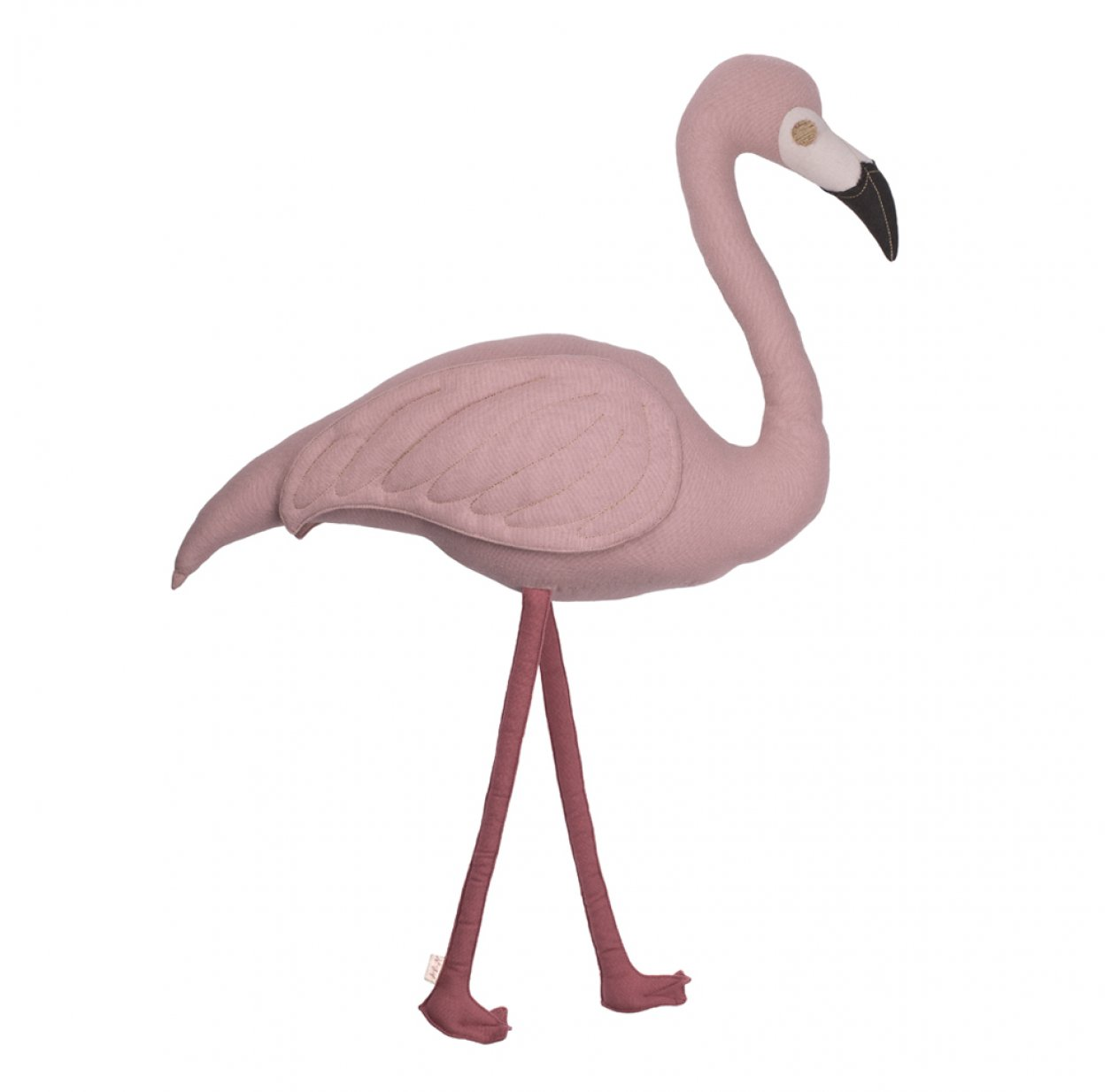 coussin flamant rose polly dusty pink vieux rose num ro 74 pour chambre enfant les enfants. Black Bedroom Furniture Sets. Home Design Ideas