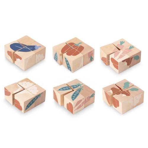 4 cubes en bois l gumes nobodinoz pour chambre enfant - Appareil pour couper les legumes en cube ...