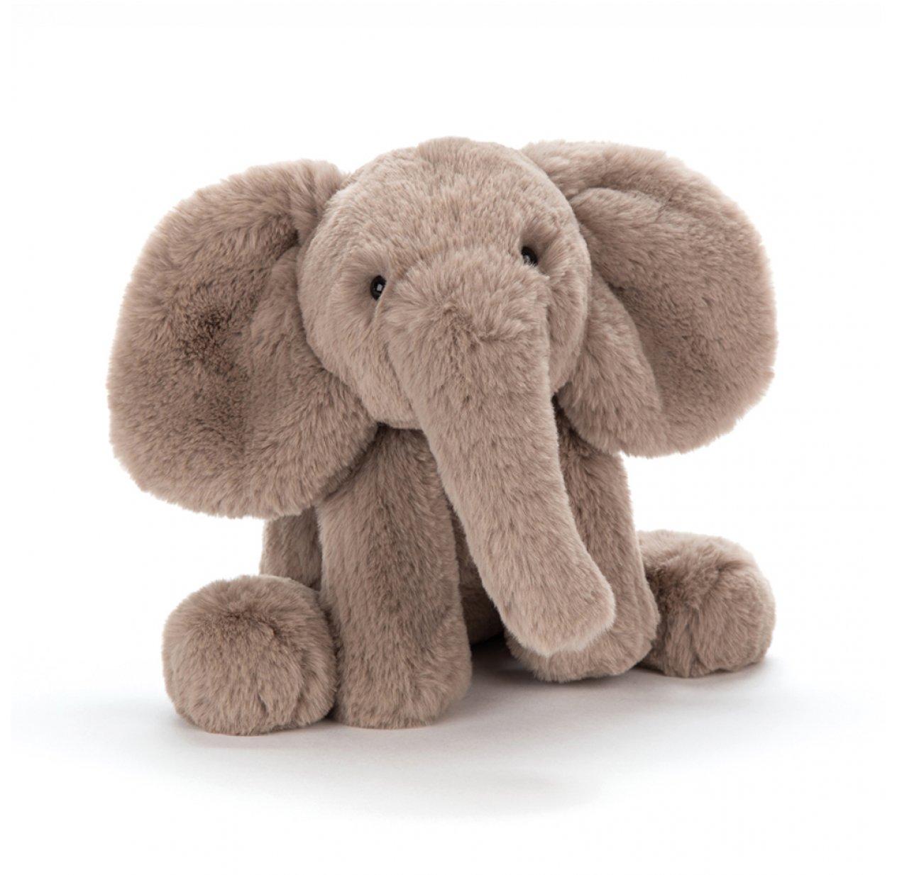 doudou l phant smudge elephant brun jellycat pour chambre enfant les enfants du design. Black Bedroom Furniture Sets. Home Design Ideas