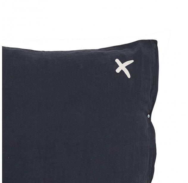 Coussin XL carré Hug charbon - Noir