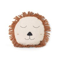 Coussin lion Safari - Naturel