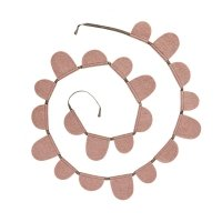 Guirlande Drapeaux ronds - Rose quartz