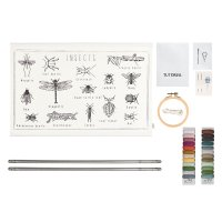 School Poster Kit à broder - Insectes