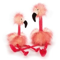 Peluche Flora le flamant rose Medium - Rose fluo