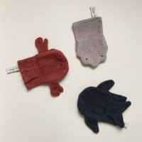 Set de 3 gants Coquillage, Crabe & Requin