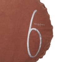 Coussin rond Shining ambre - Marron
