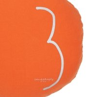 Coussin rond Shining terracotta - Orange